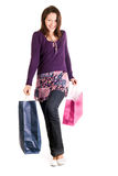 Happy shopper woman Royalty Free Stock Photos