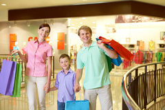 Happy shoppers Stock Images