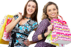 Happy shoppers Royalty Free Stock Photography