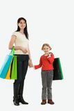 Happy shoppers Royalty Free Stock Photos