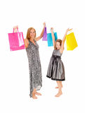 Happy shoppers. Royalty Free Stock Photography