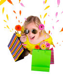Happy shopping Stock Photo