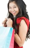 Happy after shopping Royalty Free Stock Photography