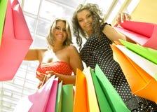 Happy shopping Stock Photos