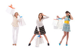 Happy at shopping Royalty Free Stock Photography