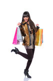 Happy while shopping Royalty Free Stock Image