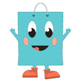 Happy shopping bag Royalty Free Stock Images