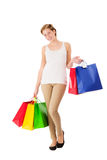 Happy with shopping bags Royalty Free Stock Photography
