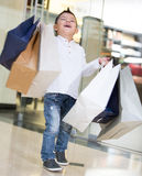 Happy shopping boy Royalty Free Stock Photography