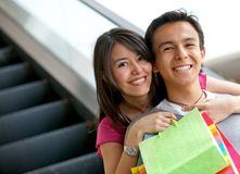 Happy shopping couple Stock Photo