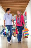Happy shopping couple Stock Photography