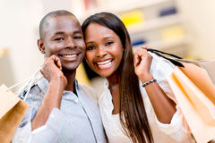 Happy shopping couple Royalty Free Stock Photo