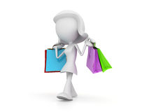 Happy Shopping Stock Photography