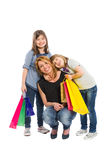 Happy shopping family Stock Image