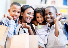 Happy shopping family Stock Photo