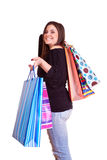 Happy shopping finished Royalty Free Stock Images
