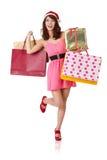 Happy shopping girl Royalty Free Stock Photo
