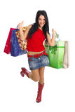 Happy Shopping girl Royalty Free Stock Image