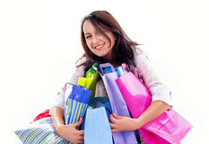 Happy shopping girl Stock Photography