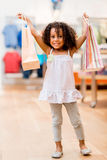 Happy shopping girl Stock Photo