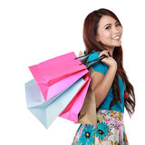 Happy shopping girl Royalty Free Stock Photos