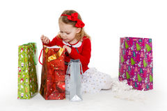 Happy shopping girl. Stock Images