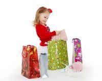 Happy shopping girl. Royalty Free Stock Photo