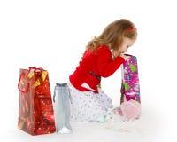Happy shopping girl. Stock Image