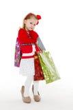 Happy shopping girl. Stock Photos