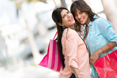 Happy shopping girls Royalty Free Stock Photo