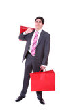 Happy shopping man Royalty Free Stock Photos