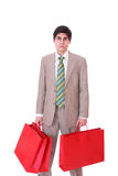 Happy shopping man Stock Photography
