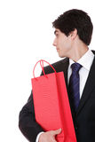 Happy shopping man Royalty Free Stock Images