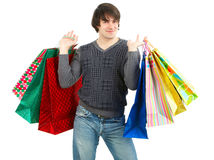 Happy shopping man Royalty Free Stock Image