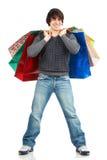 Happy shopping man Stock Photography