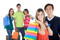Happy shopping people Royalty Free Stock Photography