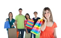 Happy shopping people Royalty Free Stock Photo