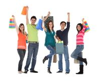 Happy shopping people Royalty Free Stock Images