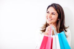 Happy shopping woman Royalty Free Stock Photography