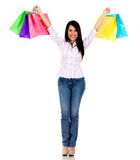 Happy shopping woman Royalty Free Stock Images