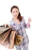 Happy shopping woman Stock Photos
