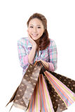 Happy shopping woman Royalty Free Stock Photos