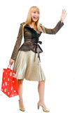 Happy Shopping Woman Stock Image
