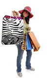 Happy shopping woman Stock Photo