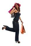 Happy Shopping Woman Stock Image