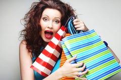 Happy shopping woman Stock Photo