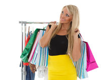 Happy shopping woman. Stock Images