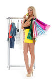 Happy shopping woman. Royalty Free Stock Images