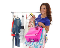 Happy shopping woman. Stock Photography