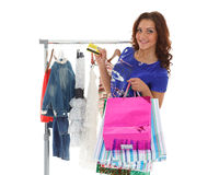 Happy shopping woman. Stock Photos